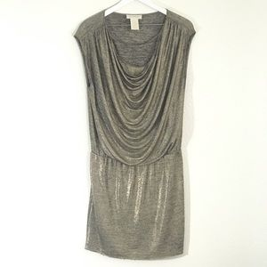 MM Couture By Miss Me Gold Draped Dress